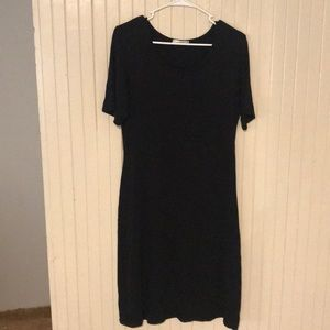 Black Auburn t shirt dress
